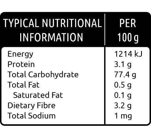 Thompson Seedless Raisins Barrel Range nutritional values